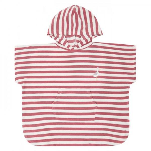 Sense-Organics - ALVI rosa Strandponcho für Kinder aus Frottee,
