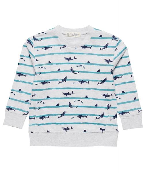 Sweat-Shirt Finn mit Hai-Print