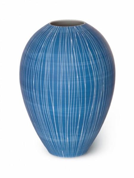 Sgraffitto - bauchige Vase von Anna Sykora - groß