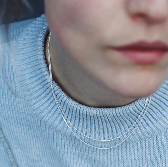 LA DOUBLE GRUMETTA Halskette aus Sterlingsilber