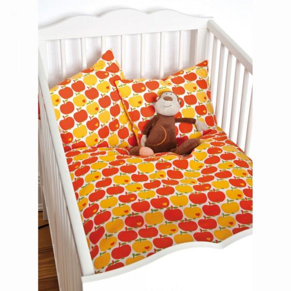 Kinderbettwäsche By Graziela Im Klassischen Apfeldesign Orange