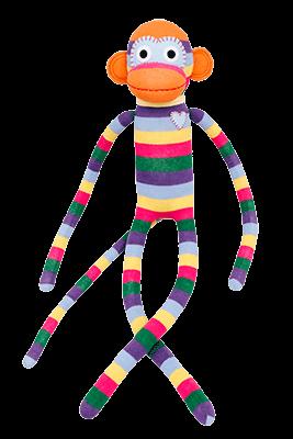 HickUps Sockenaffe XXL Rainbow