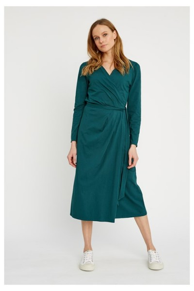 IMOGEN - fantastisches Wickelkleid von People Tree-green
