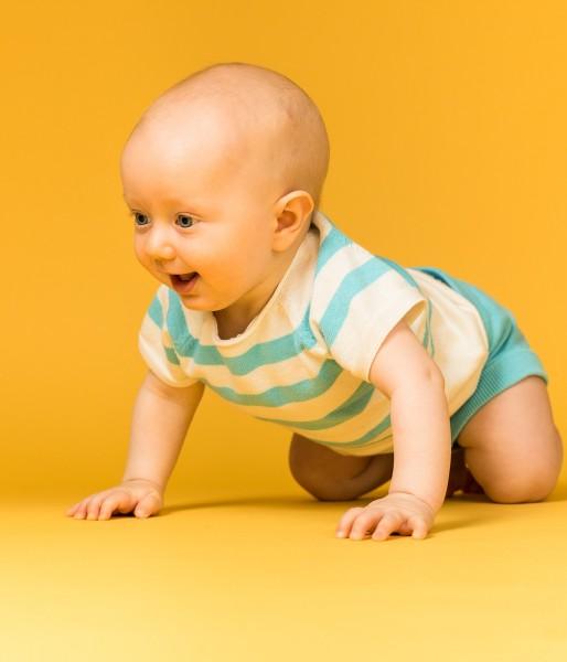 Carlitos, Babykurzarmpullover gestrickt von Sense Organics