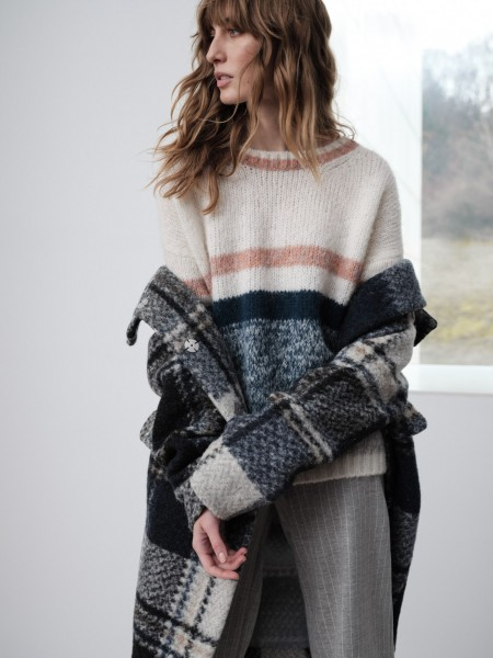 LANIUS Streifenpullover aus Alpaka Wolle