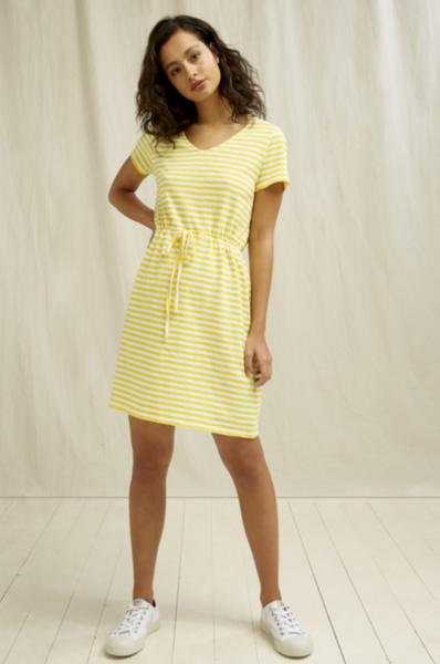 Ashby - gestreiftes Sommerkleid gelb - weiss - Stripe Dress