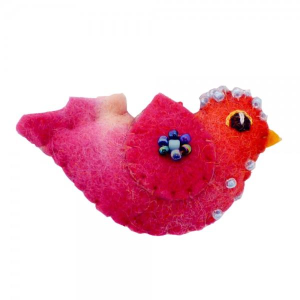 felt art - kleines Vögelchen aus Filz - in vielen Farbkombinationen