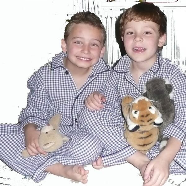 Kurz und Klein-Berlin klassischer Pyjama - Kinder