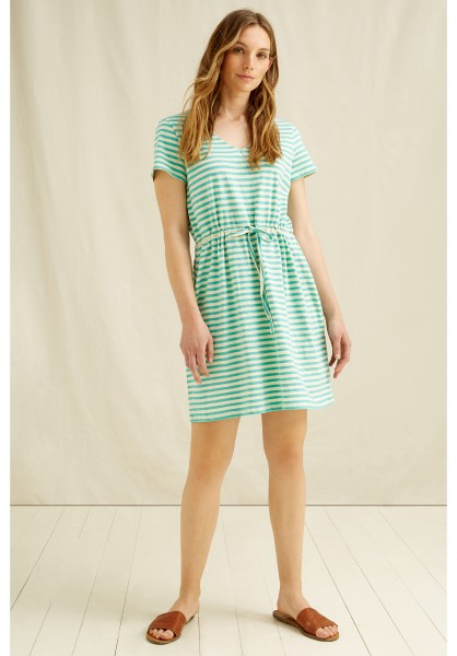 Ashby - gestreiftes Sommerkleid türkis - weiss - Stripe Dress yellow-Copy