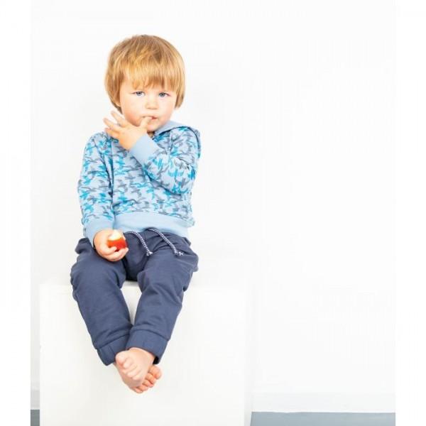 Sense-organics Lasse - Kinder Sweat Baggypant blau