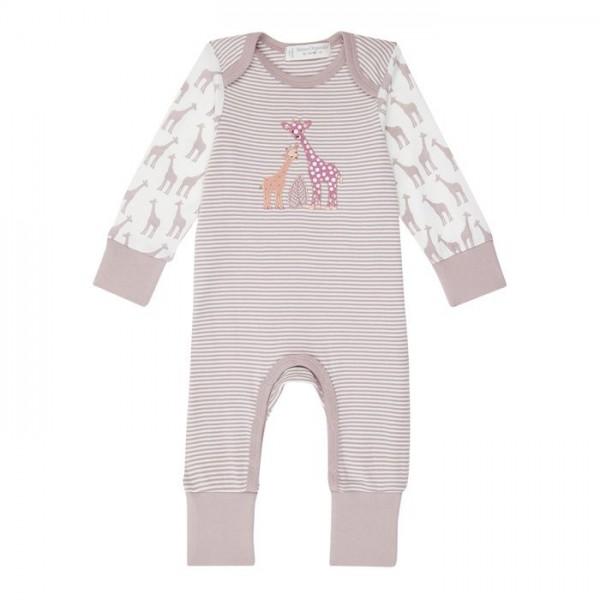 Sense-Organics - WAYAN - Baby Strampelanzug mit Ringeln und Giraffe