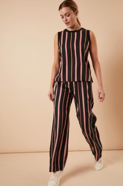 Lanius HOSE aus Tencel™ Print Stripes