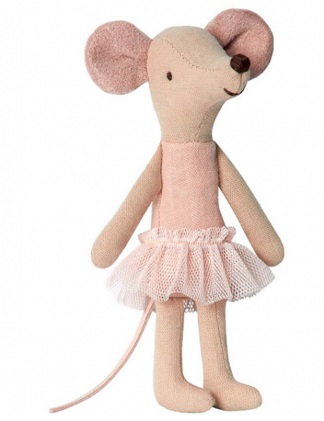 Maileg Mäuse: Ballerina, big sister in suitcase