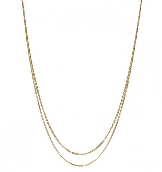 LA DOUBLE GRUMETTA Halskette aus vergoldetem Silber