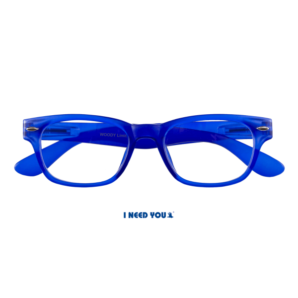 I need you - Lesebrille Woody blau