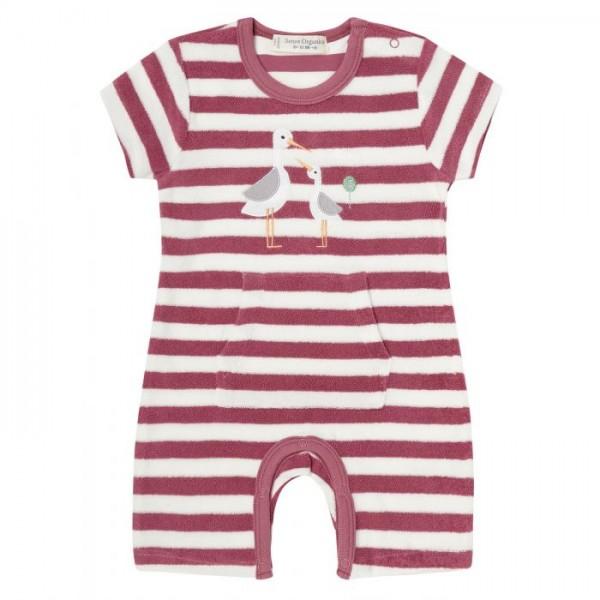 Sense-Organics - MARTE Baby Frottee Strampler rosa mit Storch
