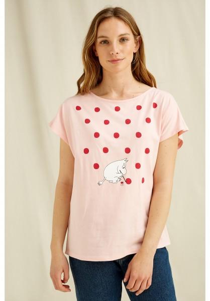 Mumin Shirt mit Punkten