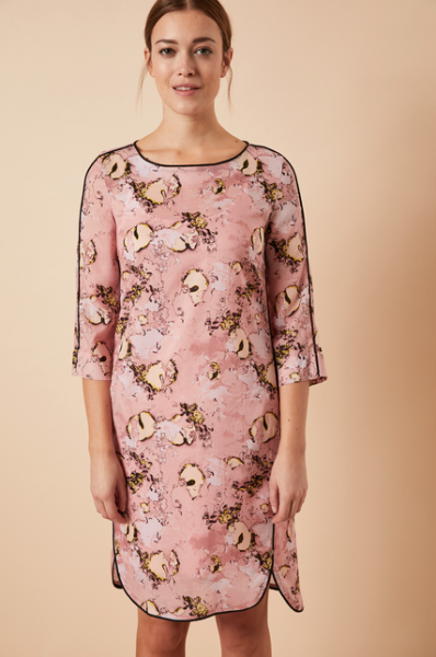 LANIUS KLEID aus Tencel™ Print Dreamland, rose