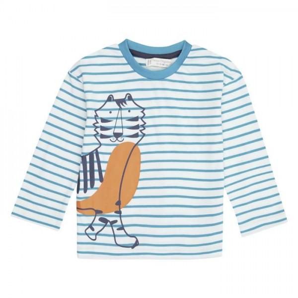Sense-Organics HANS Baby Langarm -Shirt mit Ringel und Tigerprint