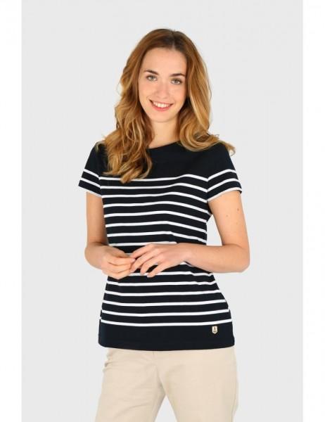 """T-Shirt im Marine-Stil """"Etel"""" - aus leichter Baumwolle, blau/weiß"""