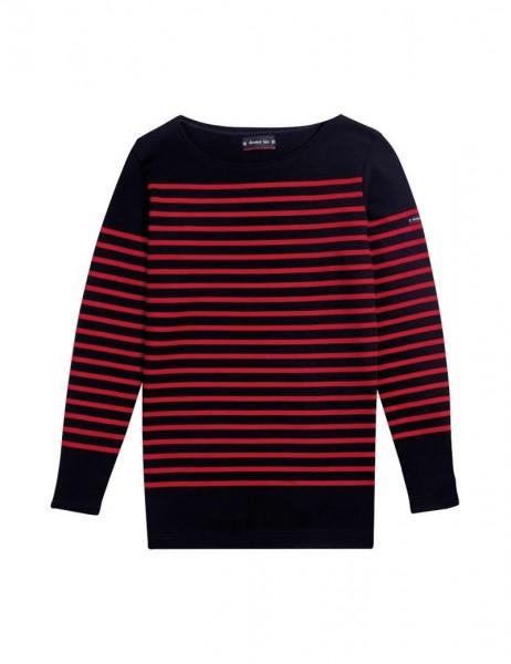 Amiral - Langarm-Shirt im Marine-Stil - aus dicker Baumwolle blau/rot 07231