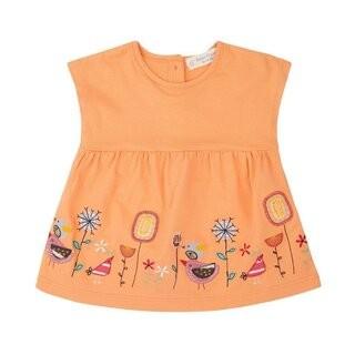 Sense-organics AURORA Babykleid, orange mit Stickerei