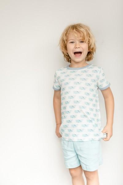 Sense-Organics - Pyjama kurz KAFKA-retro mit Wal