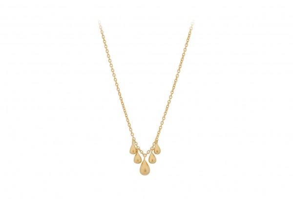 Waterdrop Necklace - vergoldete Kette mit kleinen Tropfen von Pernille Corydon