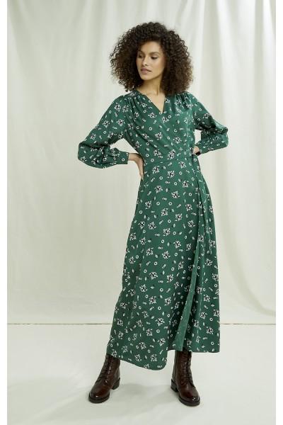 Claudette Floral Wrap Dress-Copy