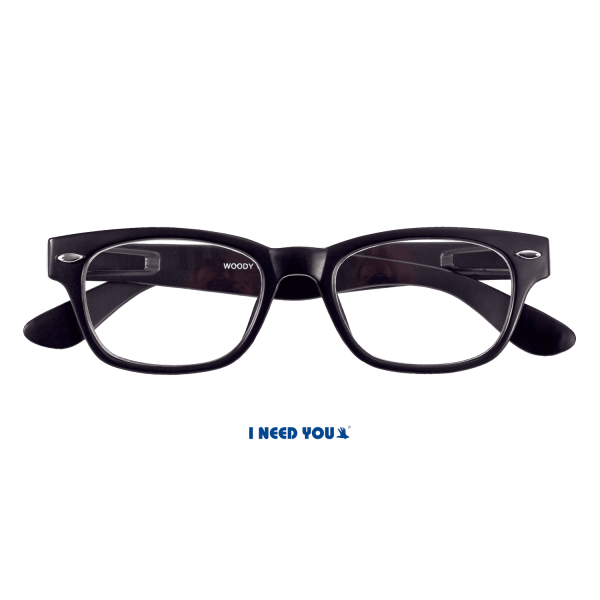I need you - Lesebrille Woody schwarz