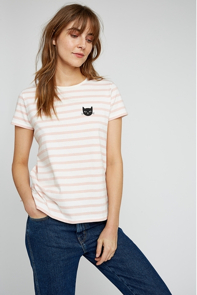 Cat Stripe T-Shirt
