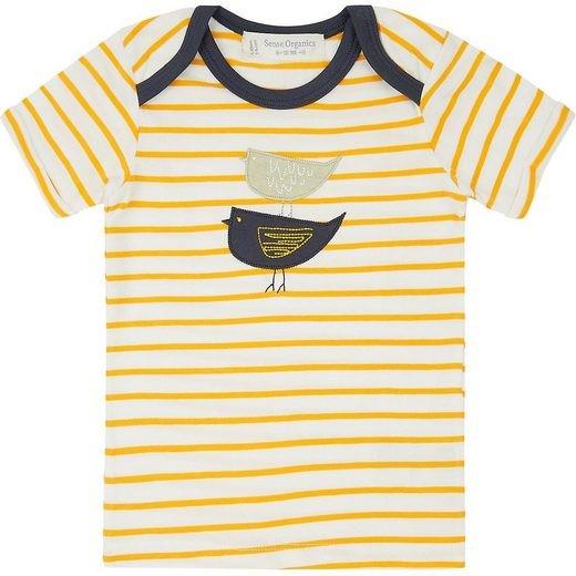Sense-Organics TOBI Shirt mit gelben Streifen