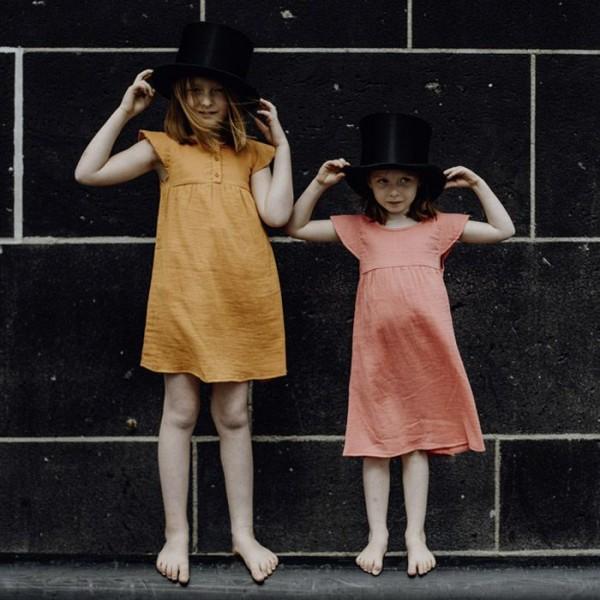 sense organics - Sommerkleid aus luftigem Musseline in orange