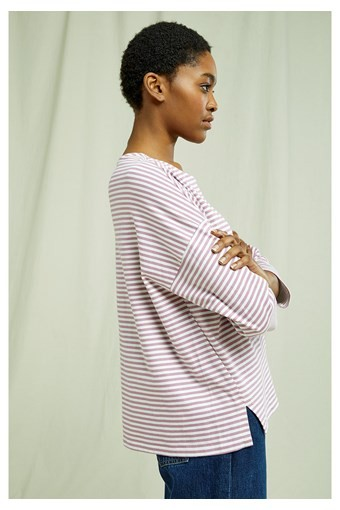 People Tree - ROMA Stripe Top In Pink