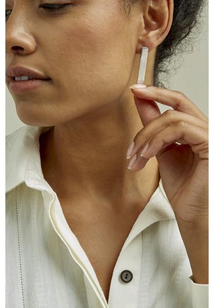 Ohrring aus versilbertem Kupfer - lang