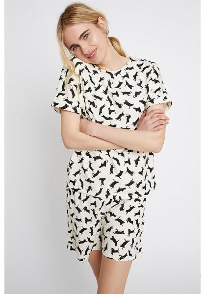 Pyjama Cat Shorts