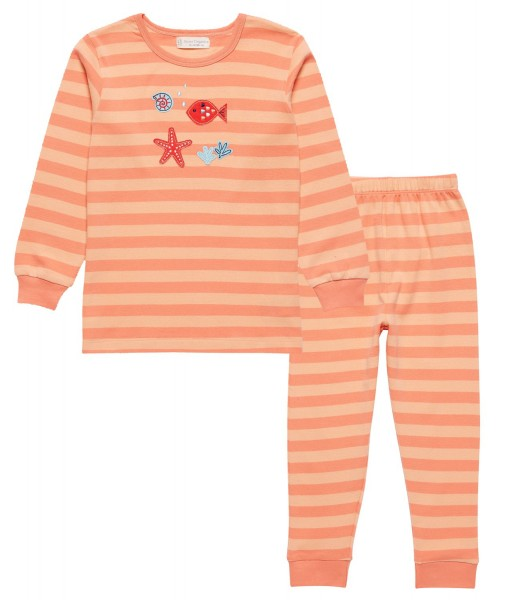 Pyjama Long John Seestern und Fische