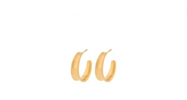 Pernille Corydon - Small Saga Earrings, 22mm - Sterling Silber mit 18 Karat vergoldet