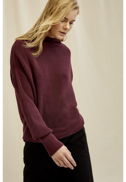 FAYE - Baumwollpullover mit hohem Kragen