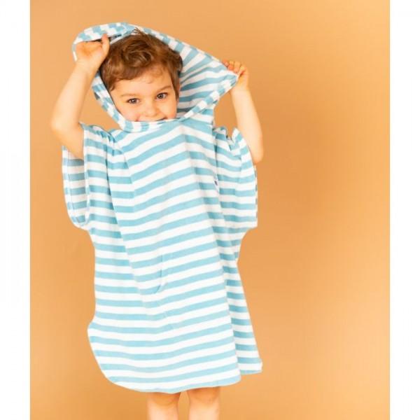 Sense-Organics - ALVI hellblau Strandponcho für Kinder aus Frottee