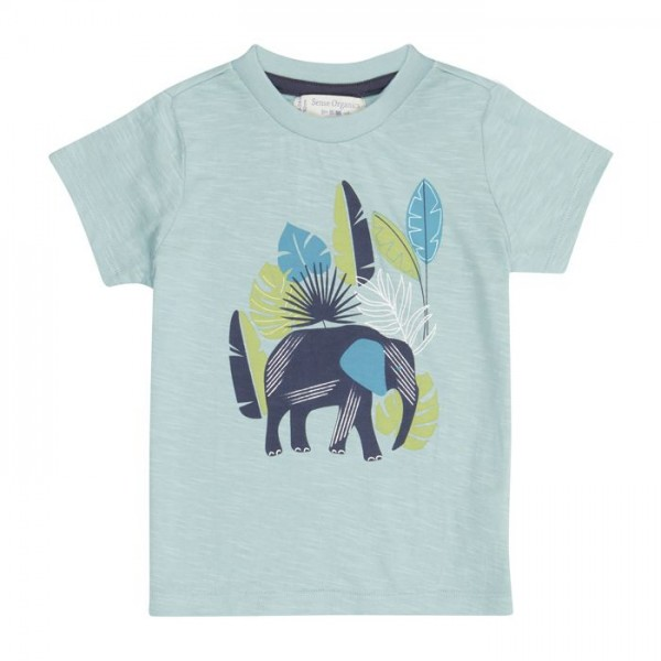 Sense-Organics blaues Baby-T-Shirt IBON