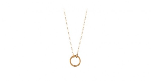 vergoldete Kette mit Ring von Pernille Corydon