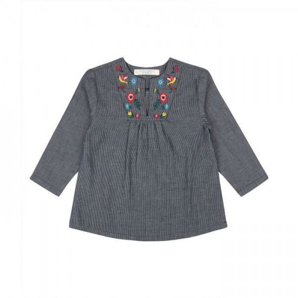 Sense-Organics RAHEL - Bluse Langarm mit Blumenstickerei