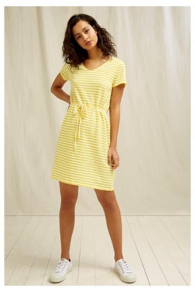 Asby - Sommerkleid in gelb-weiss - Stripe Dress yellow