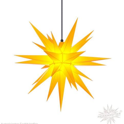 Herrnhuter Stern für Aussen -A4 - Kunststoff gelb