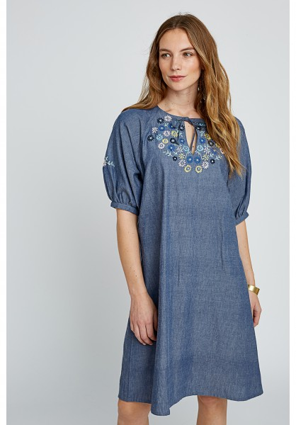 People Tree Patti Embroidered Dress