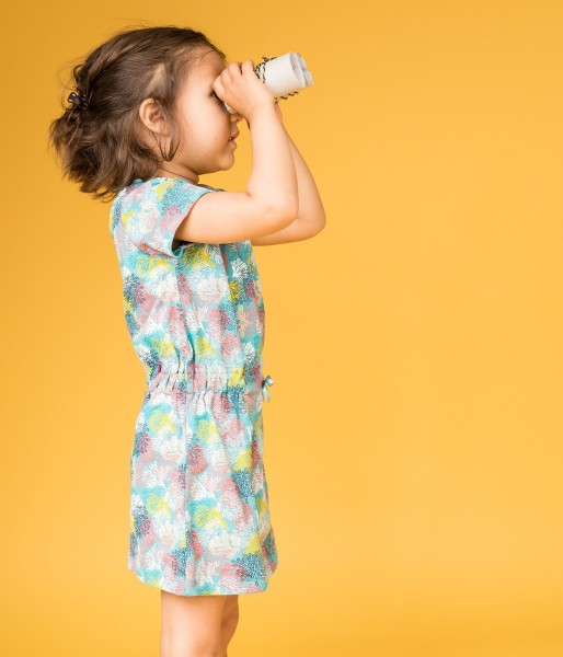 Mädchen Minikleid mit Korallenprint