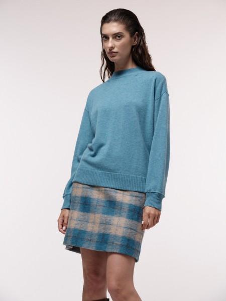 LANIUS Boxy-Pullover mit Stehkragen