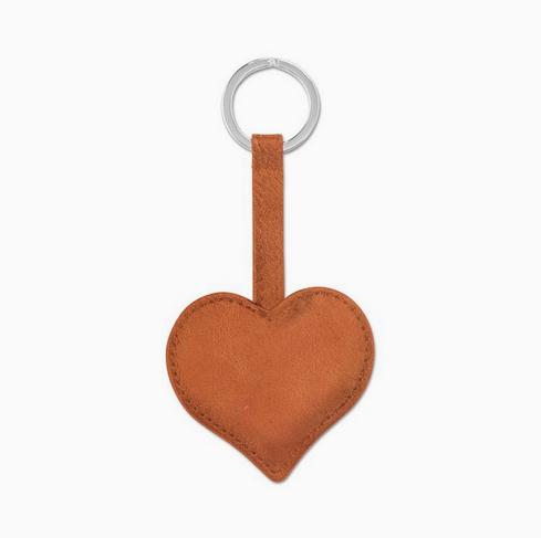 Sonnenleder Schlüsselanhänger Herz / RAVEL