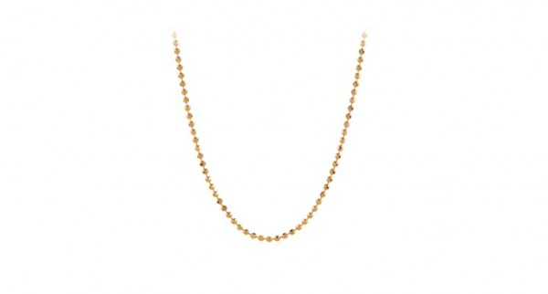 Pernille Corydon - Facet Plain Necklace aus Sterlingsilber mit 18 Karat vergoldet